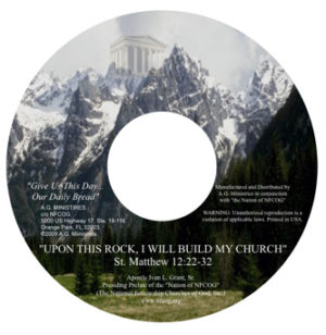 Upon This Rock, I Will Build My Church